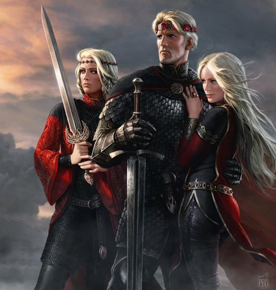 aegon_and_his_sisters_by_amok